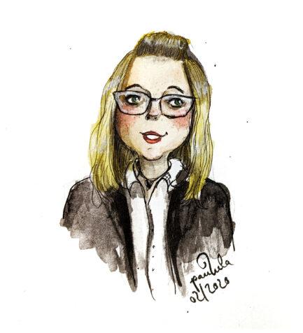 Auftrags Portrait Illustration 1 Person